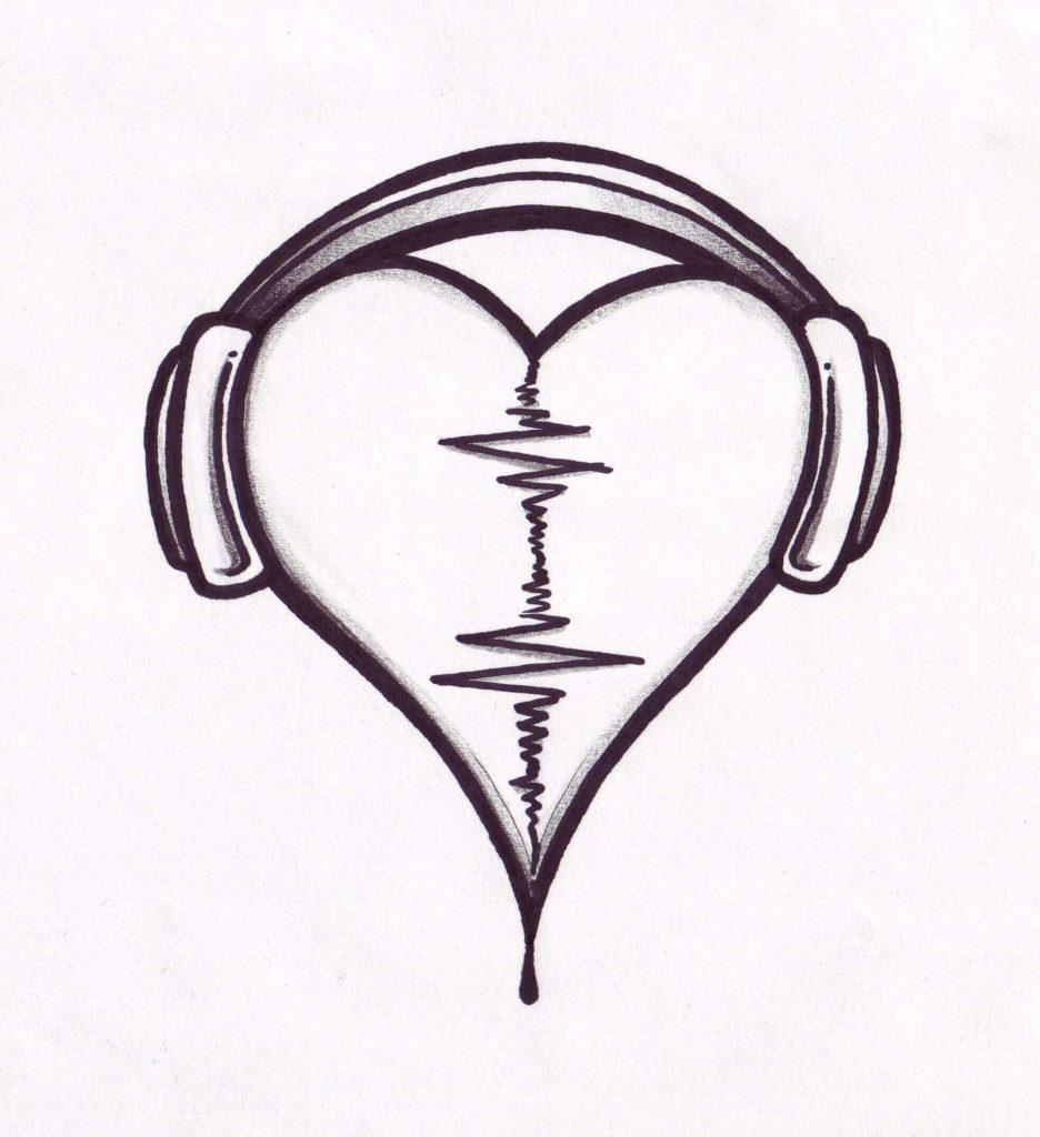 красивые рисунки для срисовки сердечки