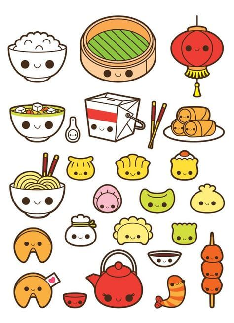 милые картинки для срисовки еда фаст фуд