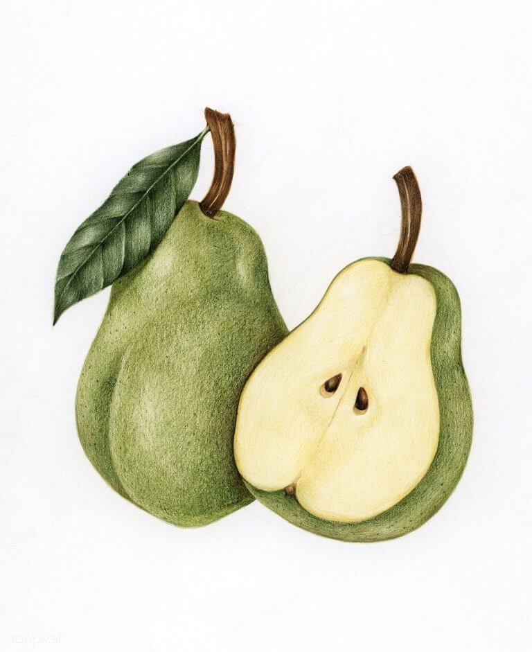 легкие рисунки для срисовки милые фрукты