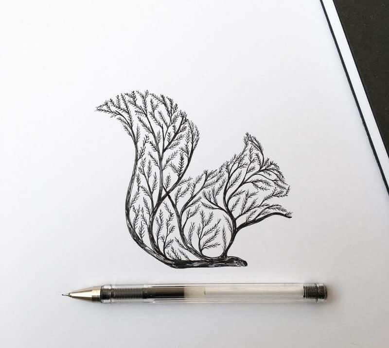 картинки для срисовки черной гелевой ручкой