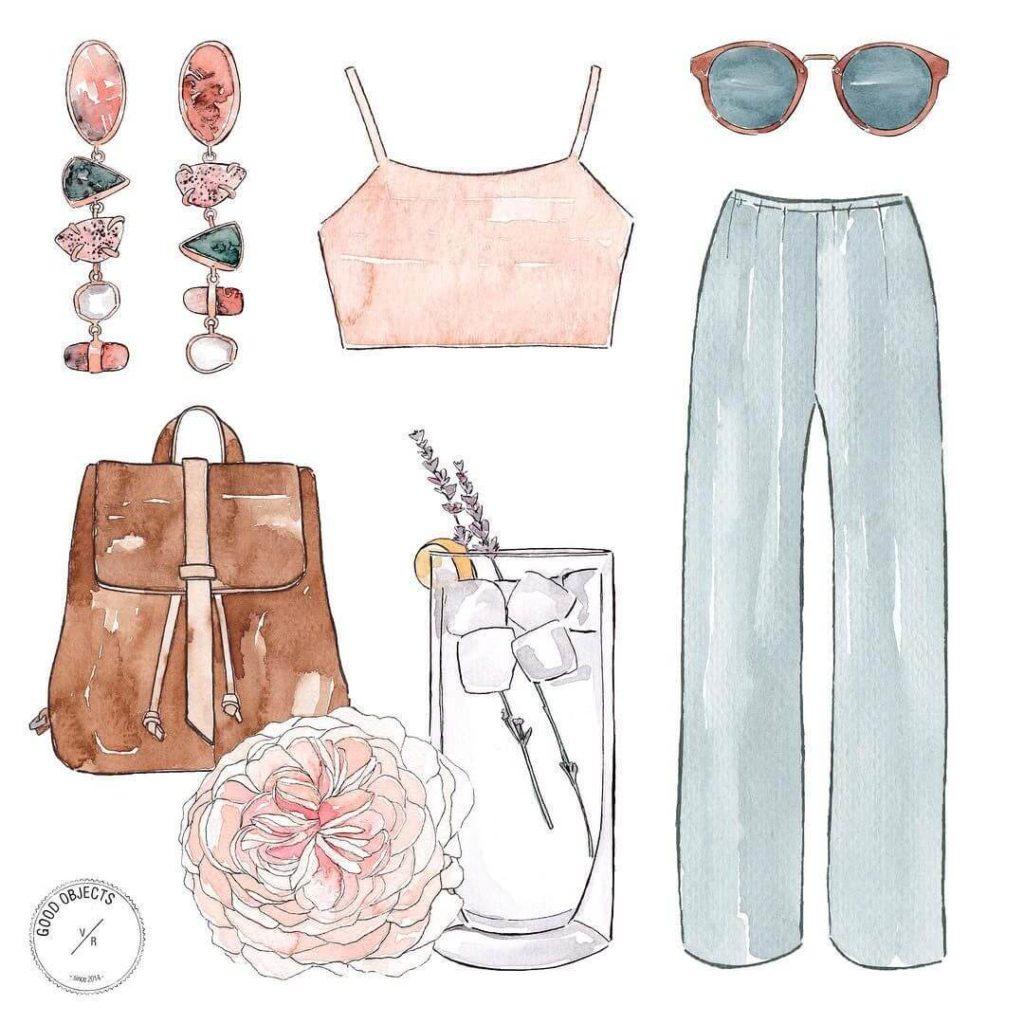 стиль одежды для срисовки
