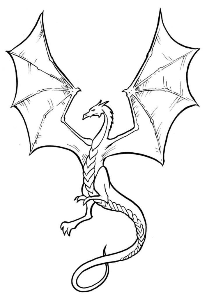 рисунок дракона для срисовки легкие