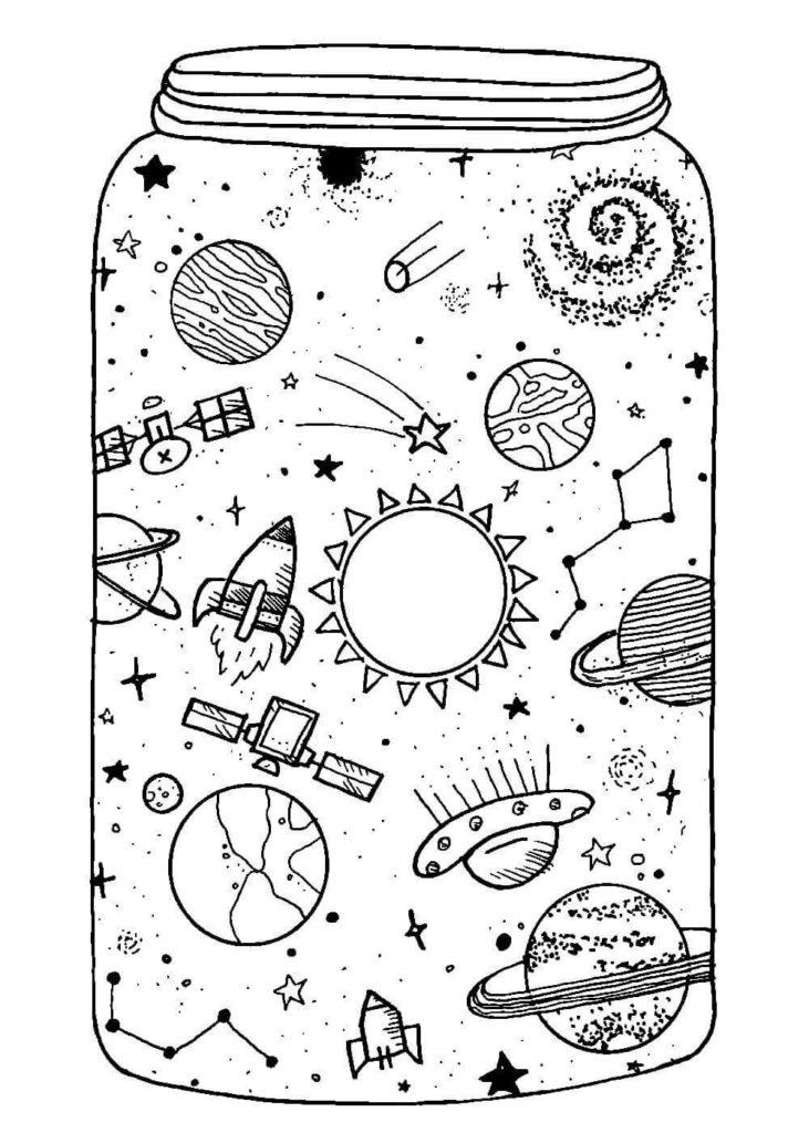 картинки на тему космос для срисовки