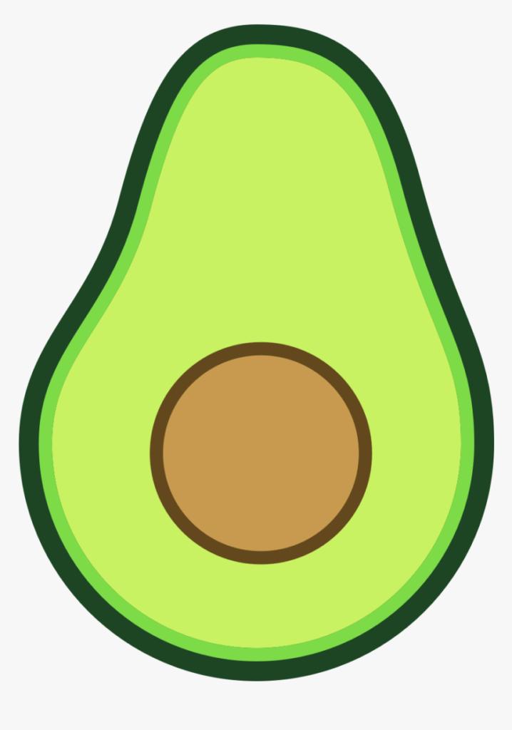 милые картинки авокадо для срисовки