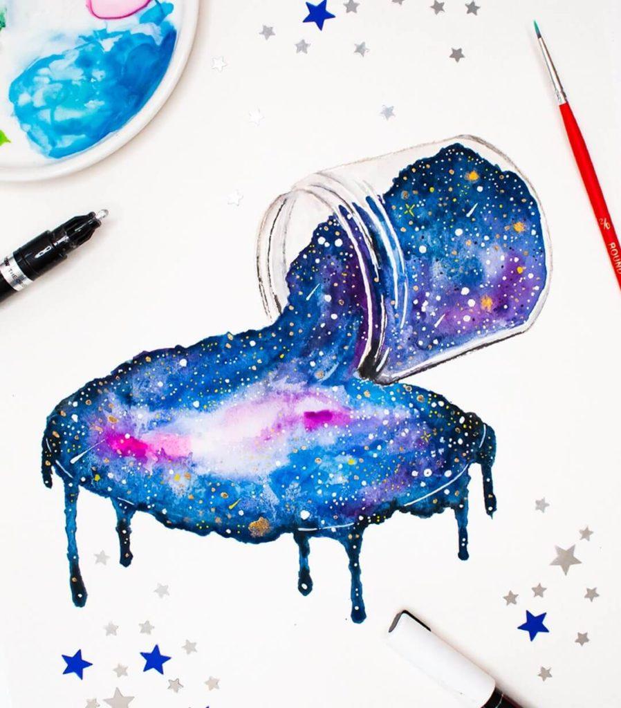 картинки с космосом для срисовки