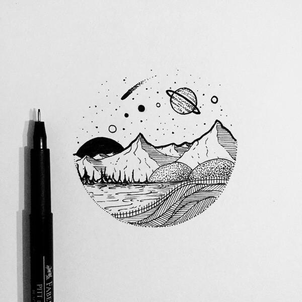 легкие картинки для срисовки для начинающих ручкой