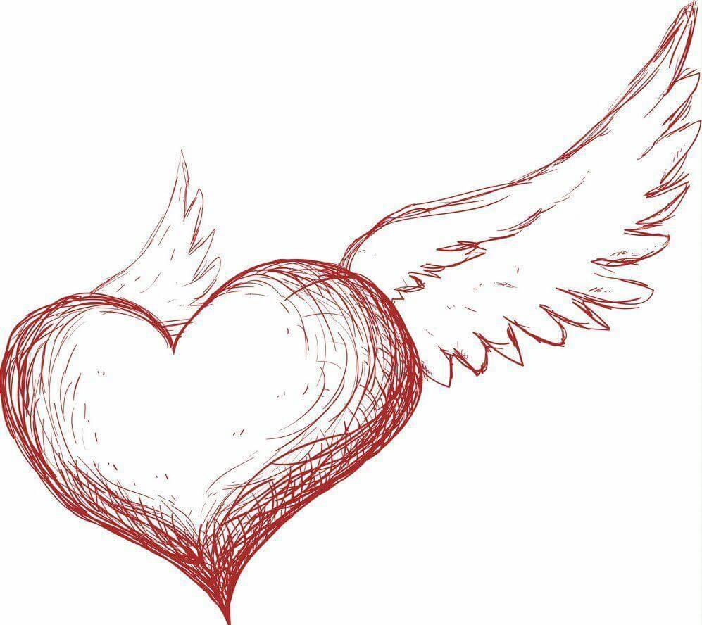 картинки для срисовки легкие сердечки