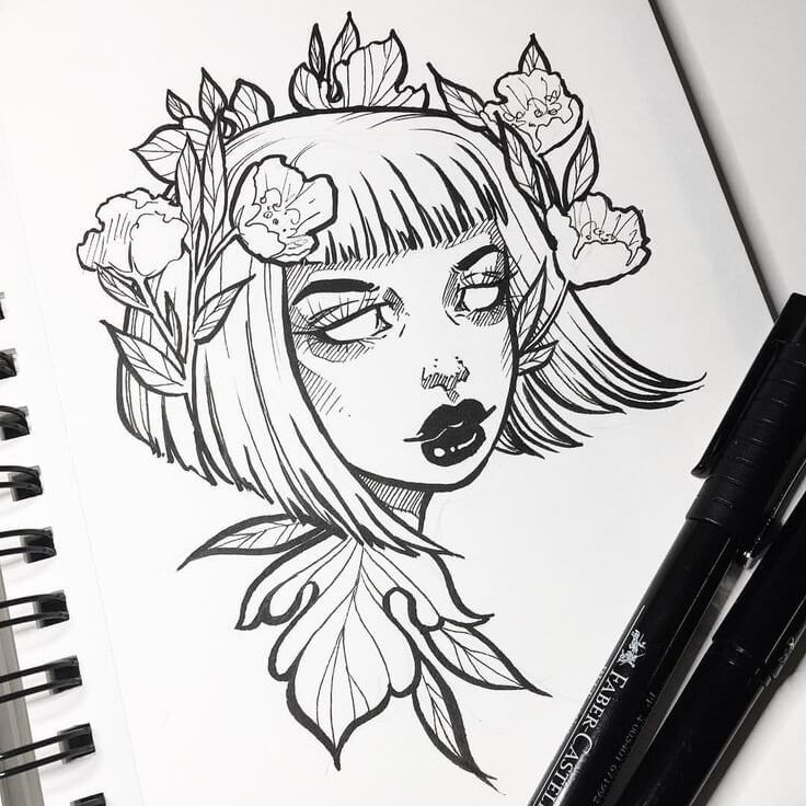 рисунки цветными гелевыми ручками для срисовки