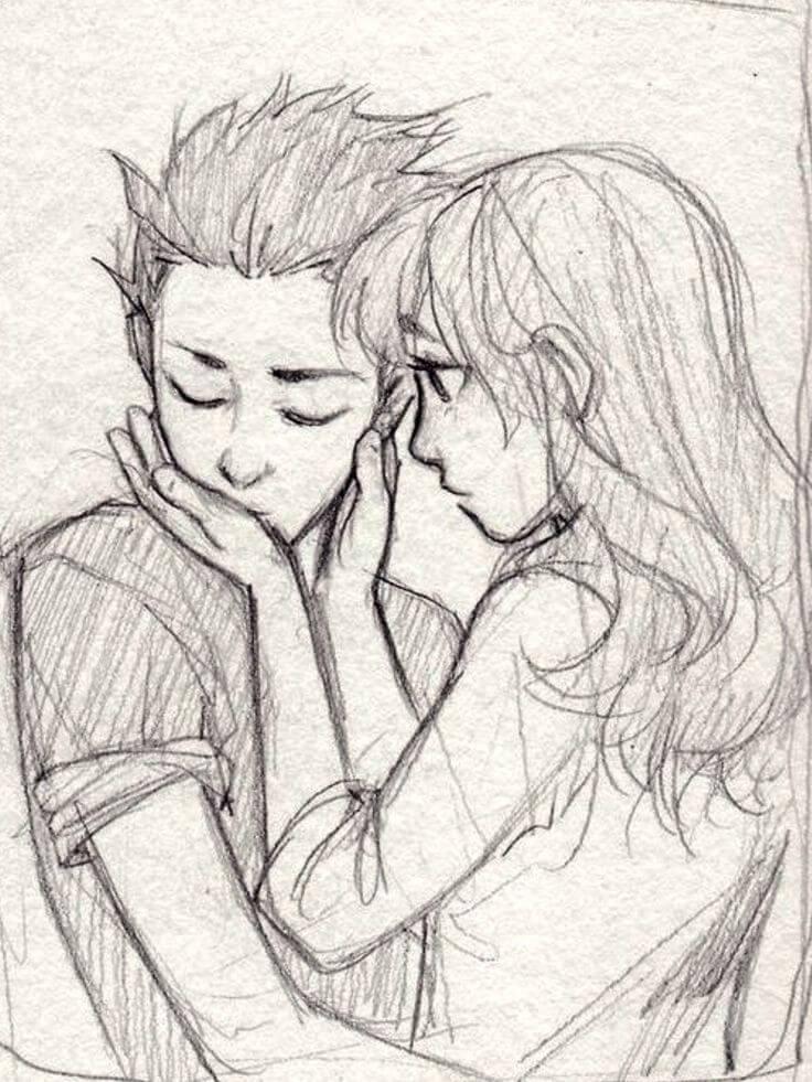срисовки про любовь
