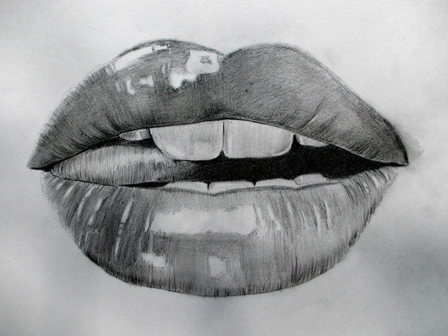 красивые губы для срисовки