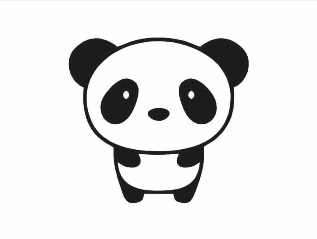 рисунки панды для срисовки легкие и красивые