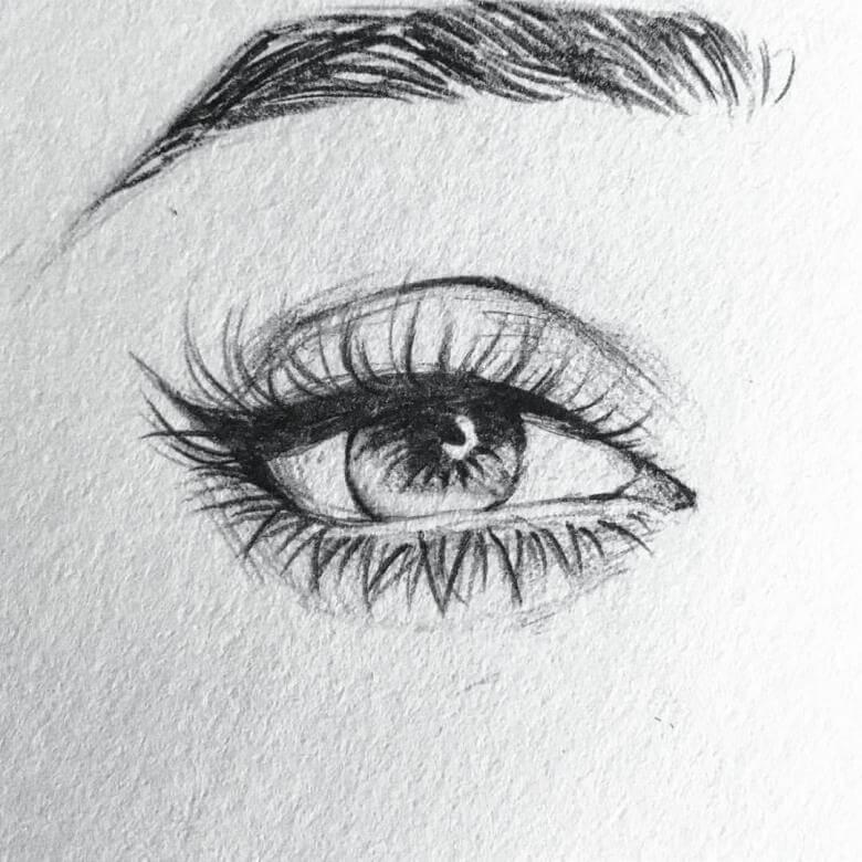 нарисованные глаза для срисовки