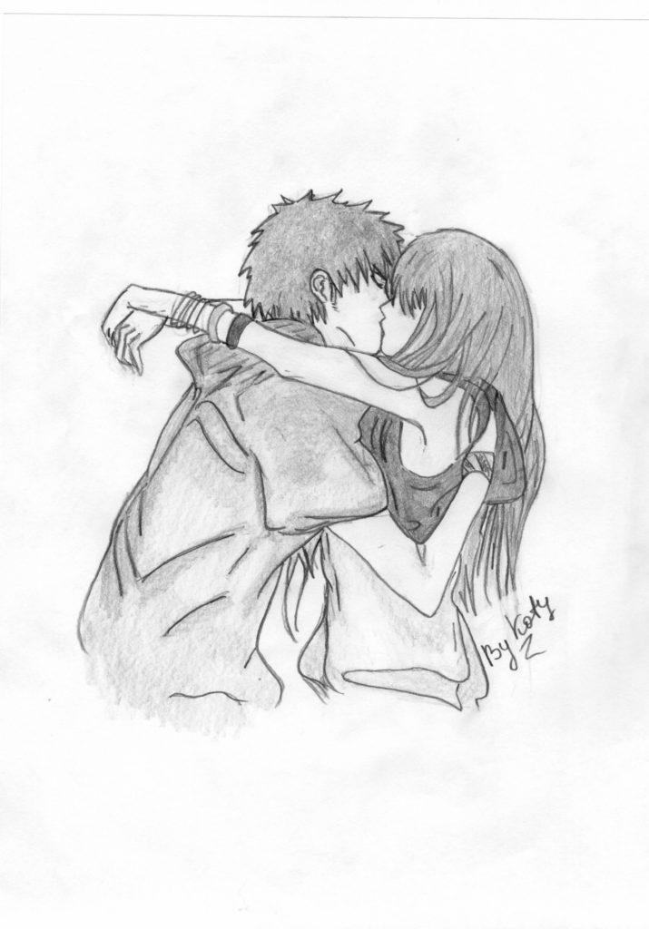 срисовки легкие любовь