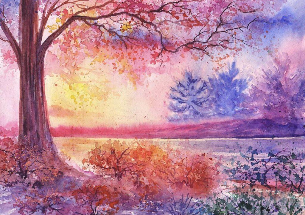 природа рисунки для срисовки легкие и красивые