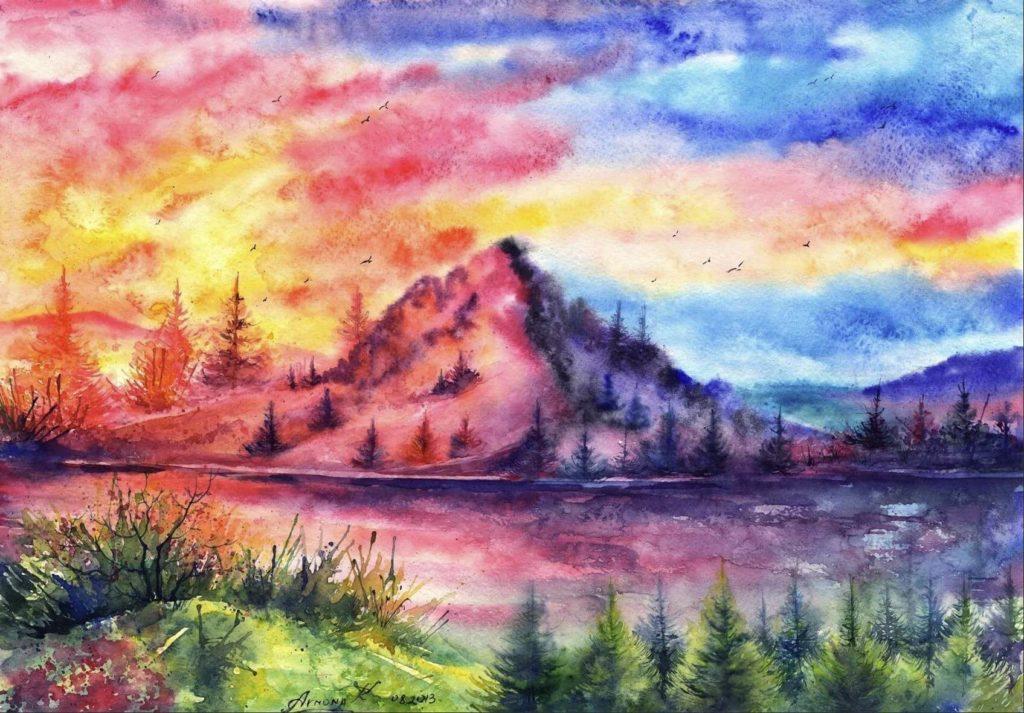 картины красками для срисовывания