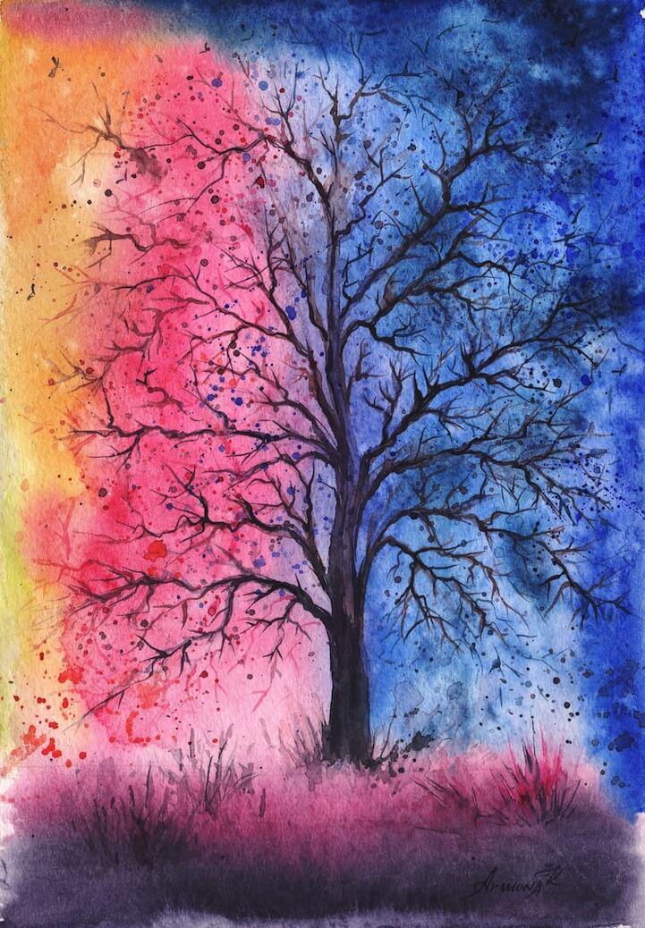 красивые картинки для срисовки красками легкие