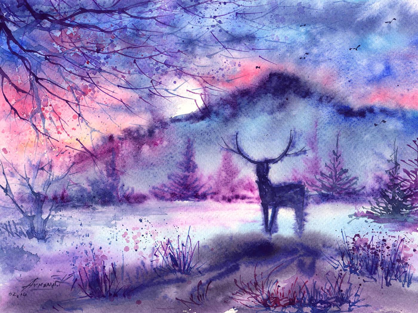 красивые рисунки для срисовки красками легкие