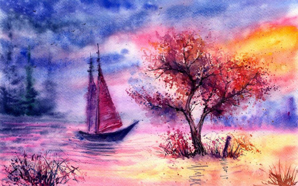 красивые рисунки природы для срисовки