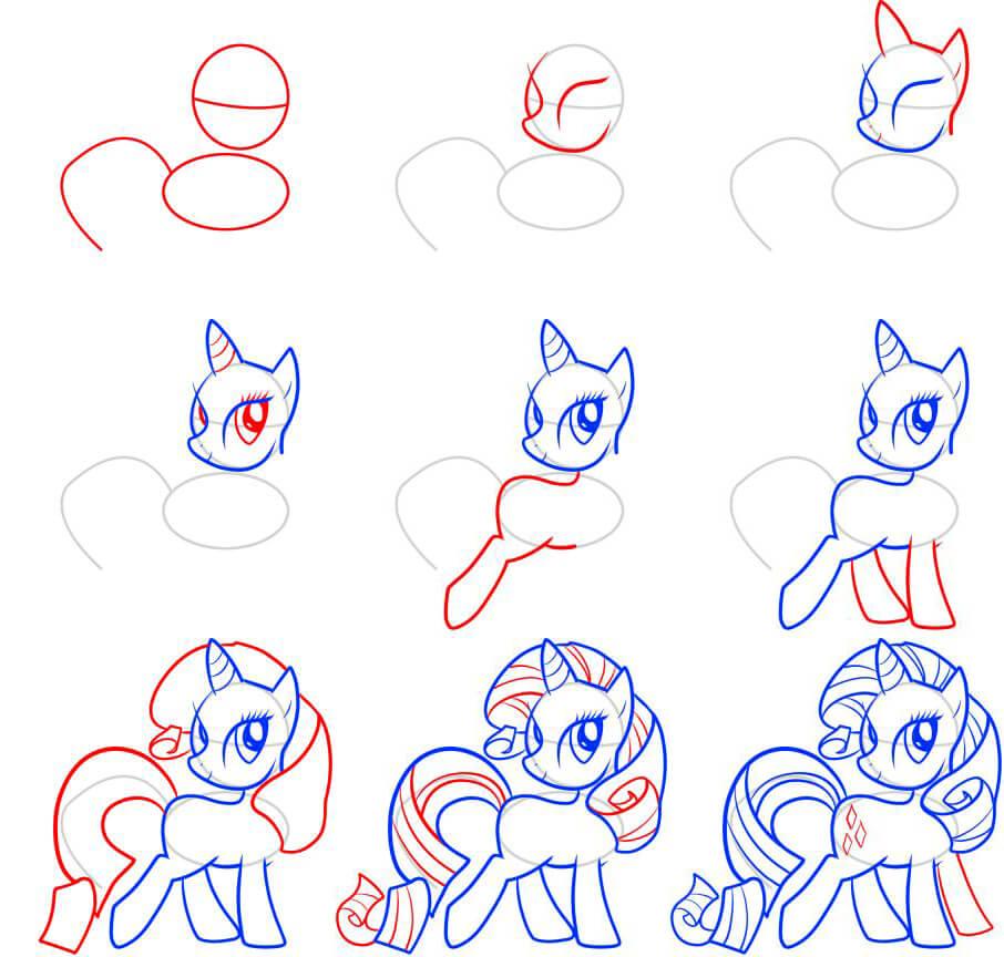 my little pony картинки для срисовки