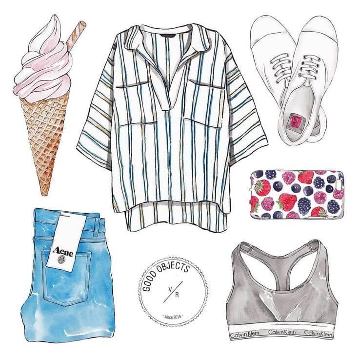 модная одежда для срисовки