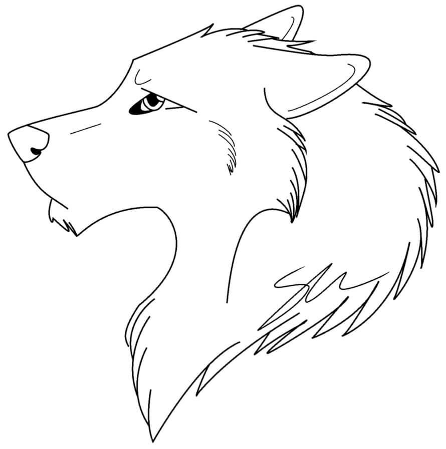 рисунок волка для срисовки легкие