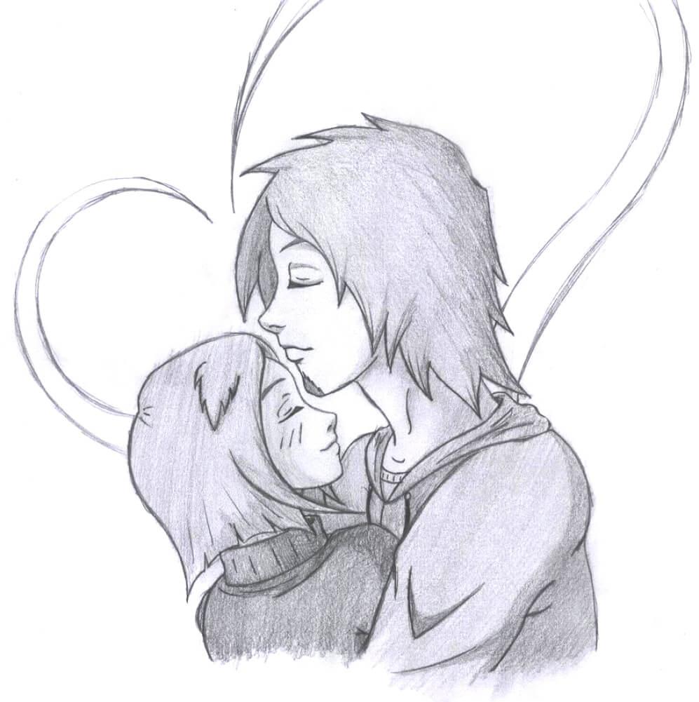рисунки для срисовывания про любовь