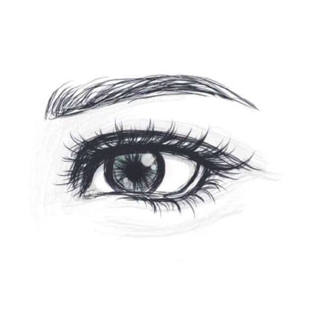 рисунок глаза для срисовки