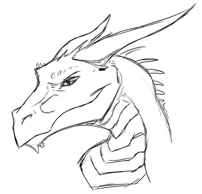 китайский дракон для срисовки