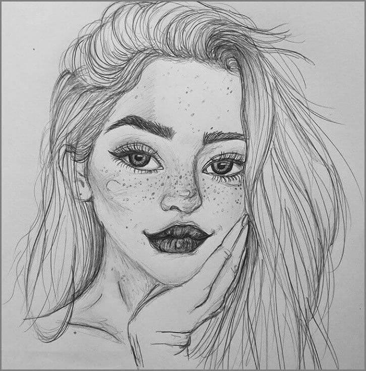 девушка для срисовки легко