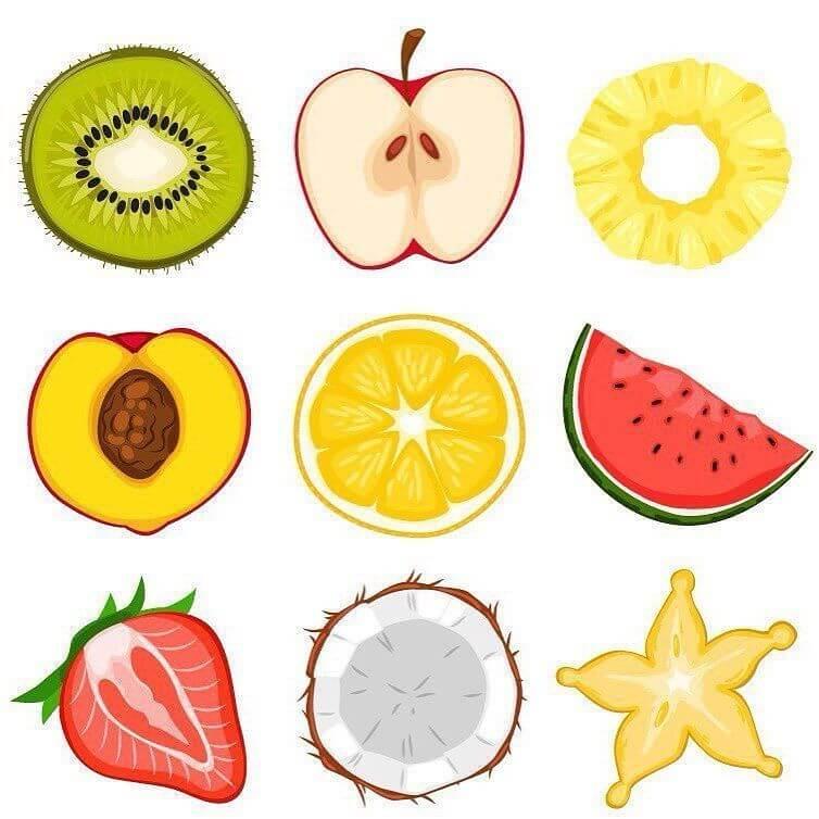 срисовки милые фрукты