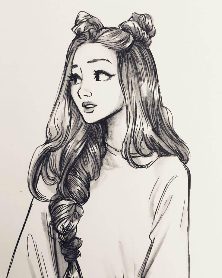 рисунки женщин для срисовки