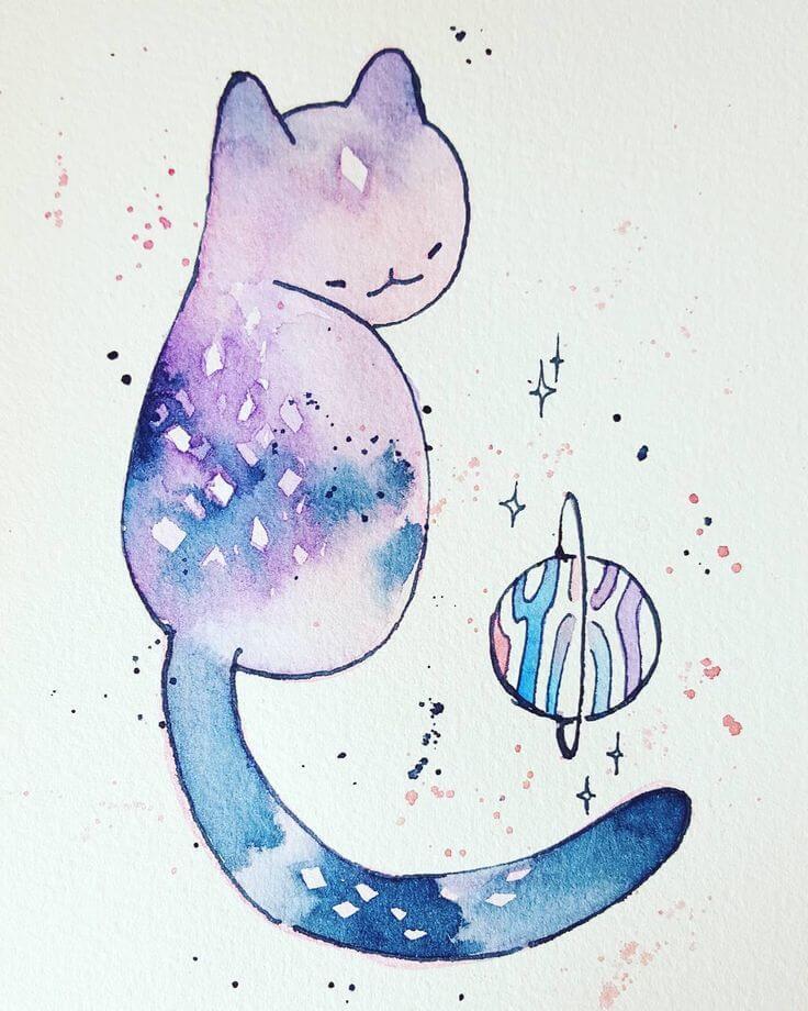 рисунки для срисовки легкие и красивые космос