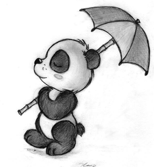 рисунок панды для срисовки
