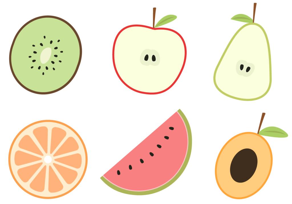 картинки для срисовки фрукты и овощи