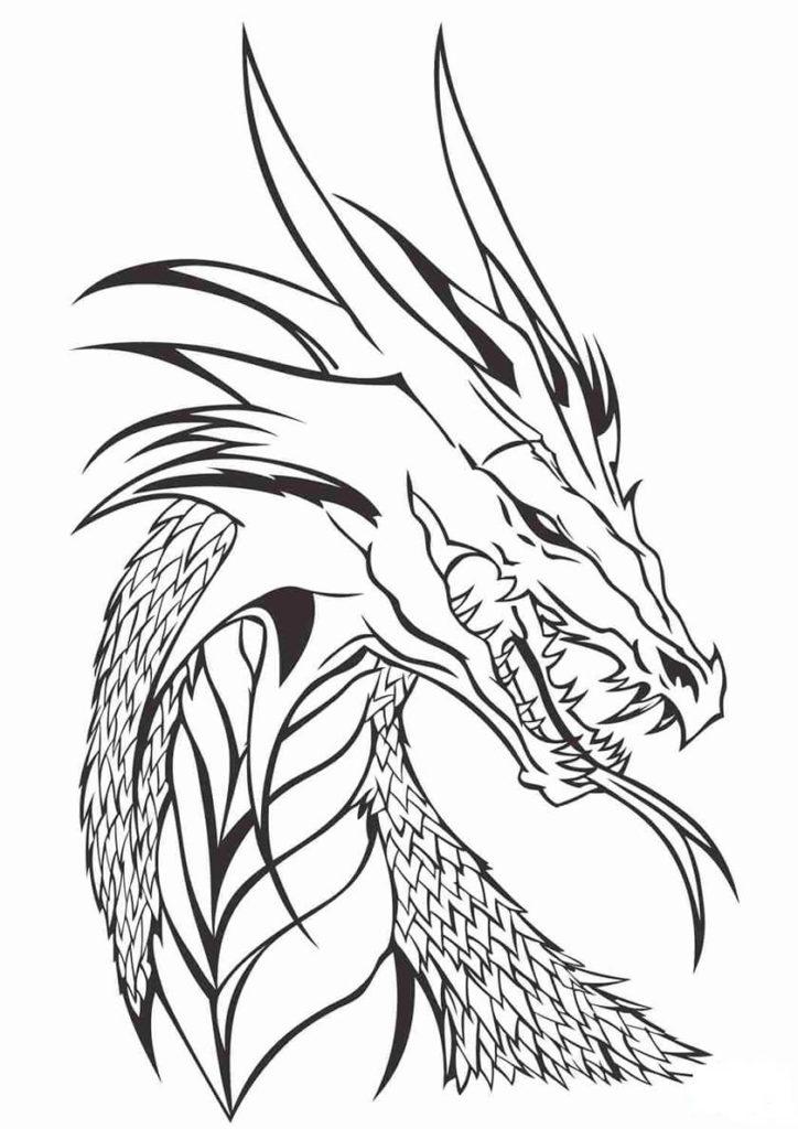 дракон для срисовки легкий