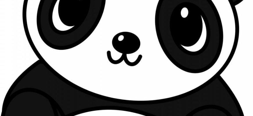 милые рисунки для срисовки панда