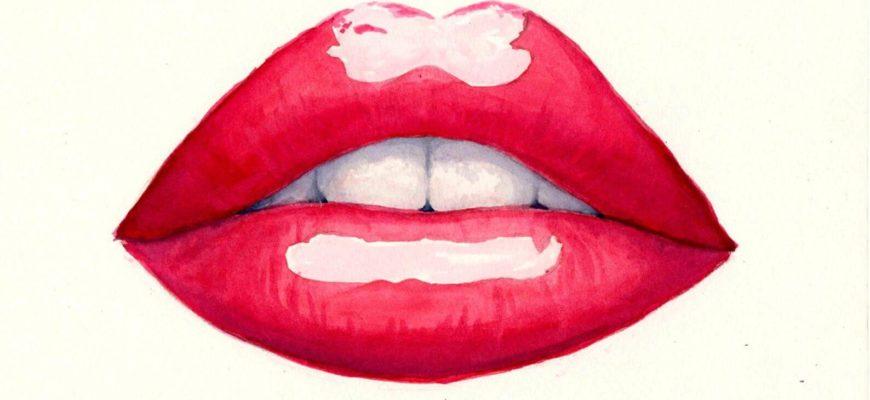 мультяшные губы для срисовки