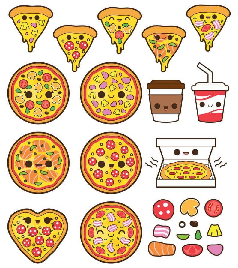 прикольные рисунки для срисовки легкие еда