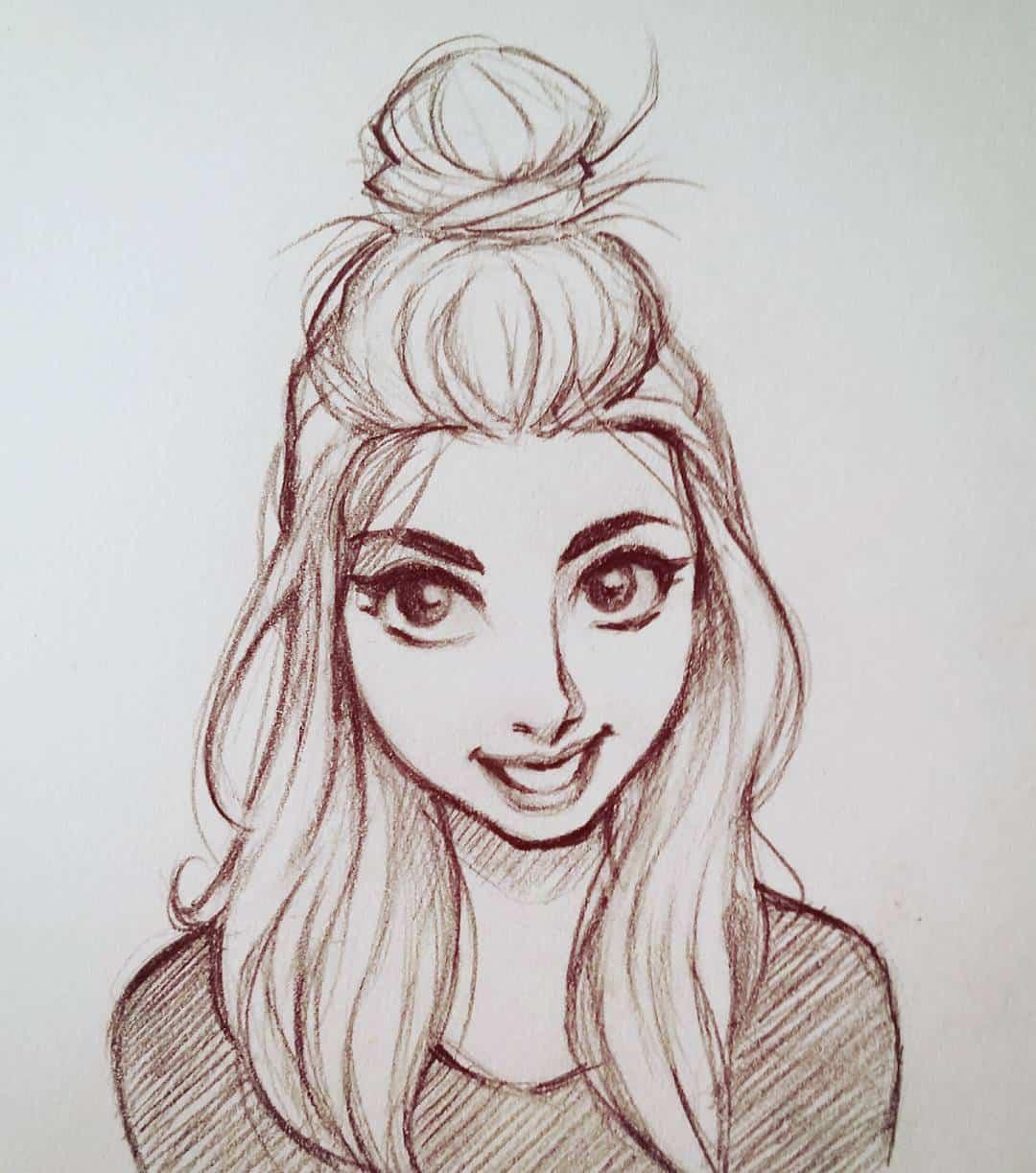 картинки для срисовки легкие и красивые девушки