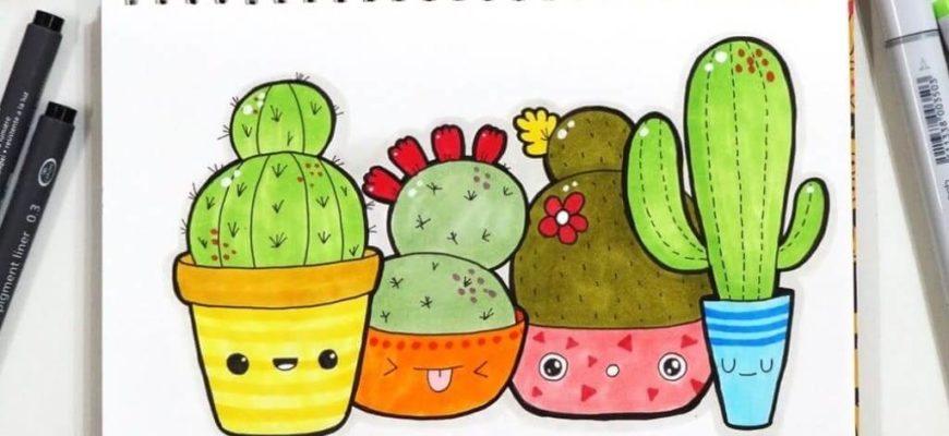 рисунки для срисовки цветные фломастерами