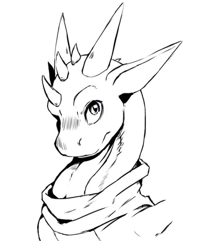 картинки для срисовки драконы