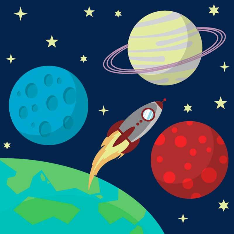 космос для срисовки