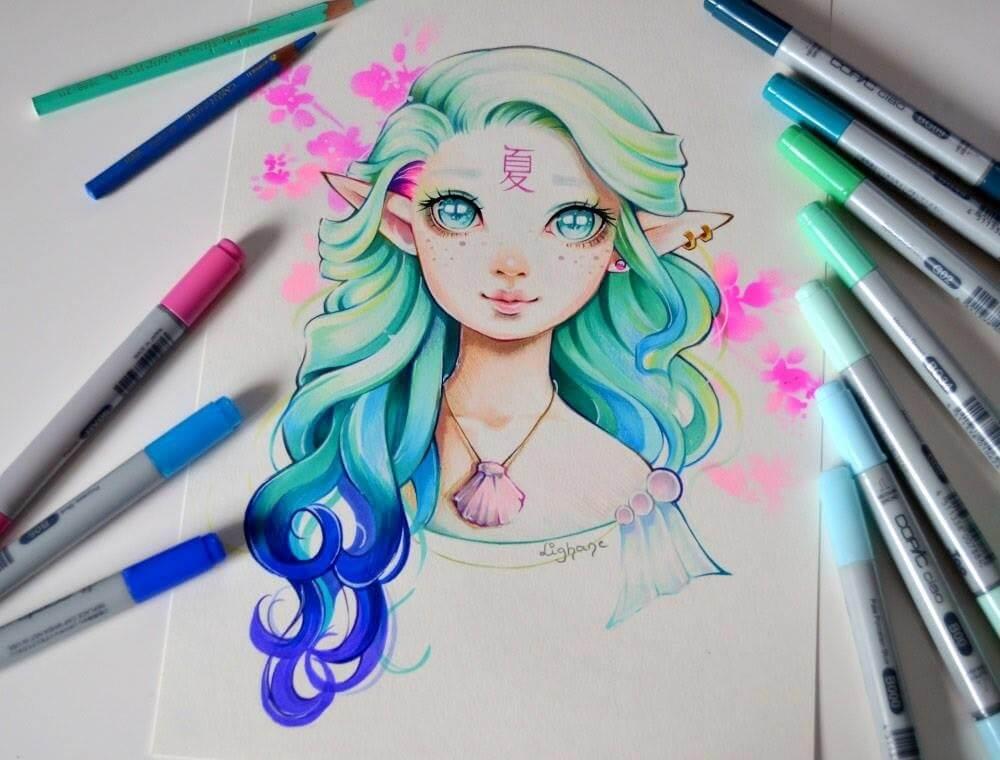 картинки красивые для срисовки маркерами