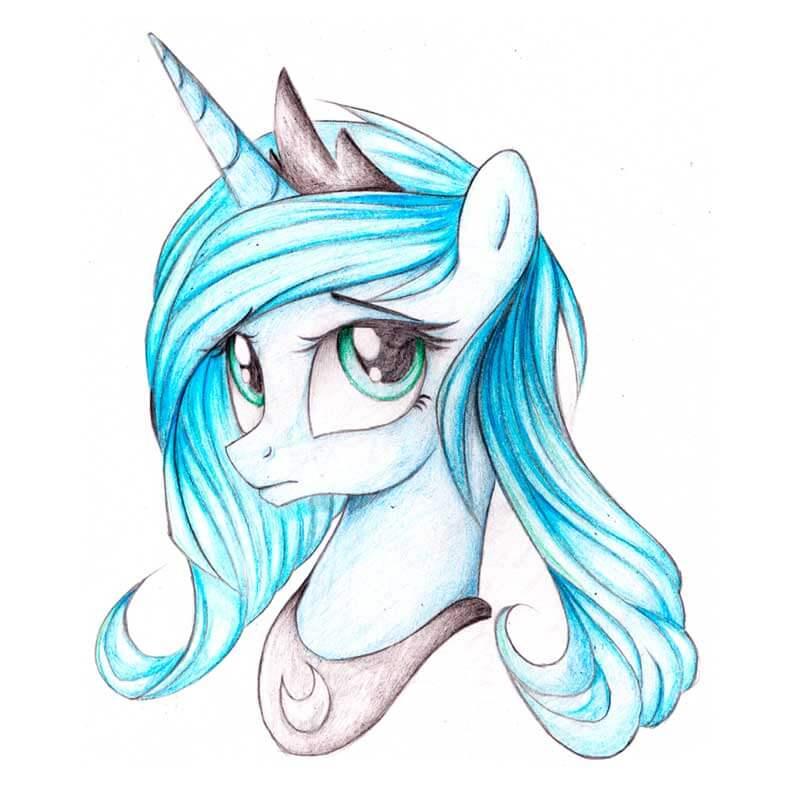 красивые картинки для срисовки пони