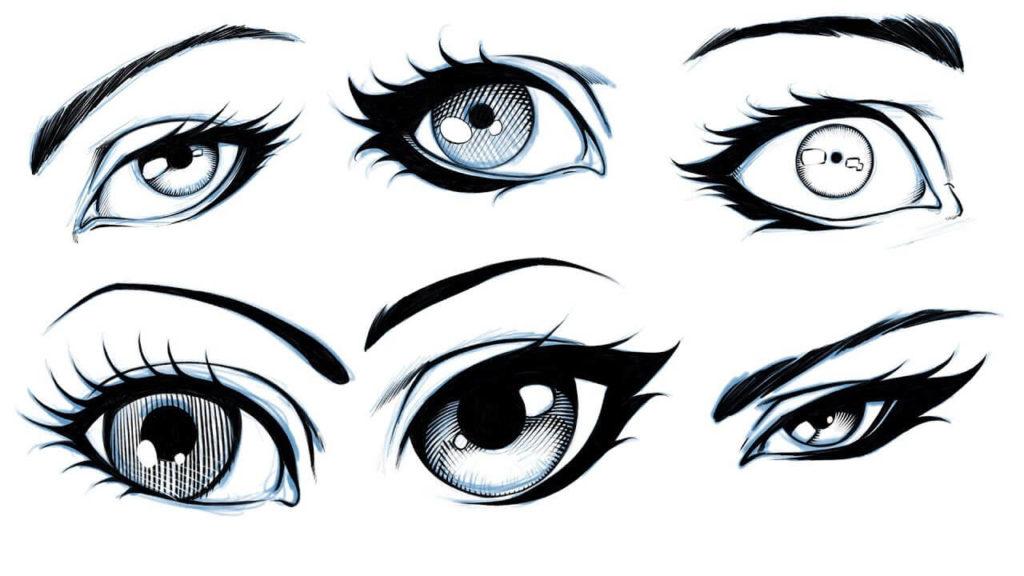 картинки для срисовки глаза