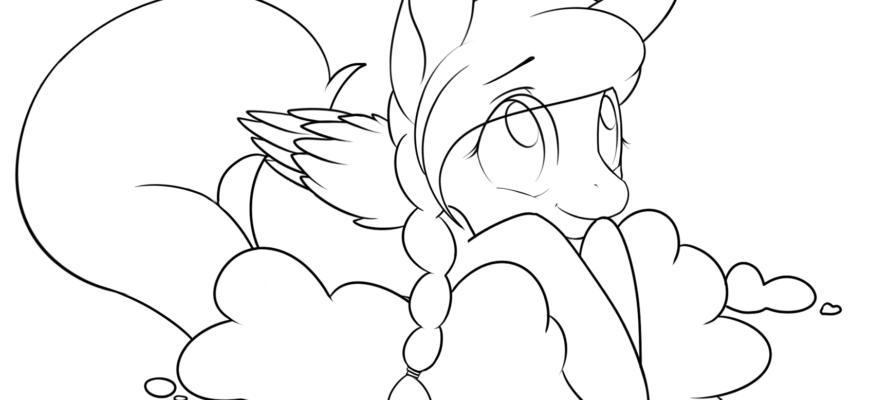 срисовать картинки пони
