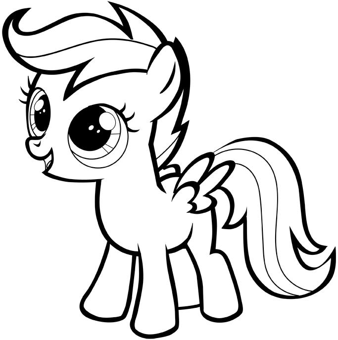 май литл пони для срисовки