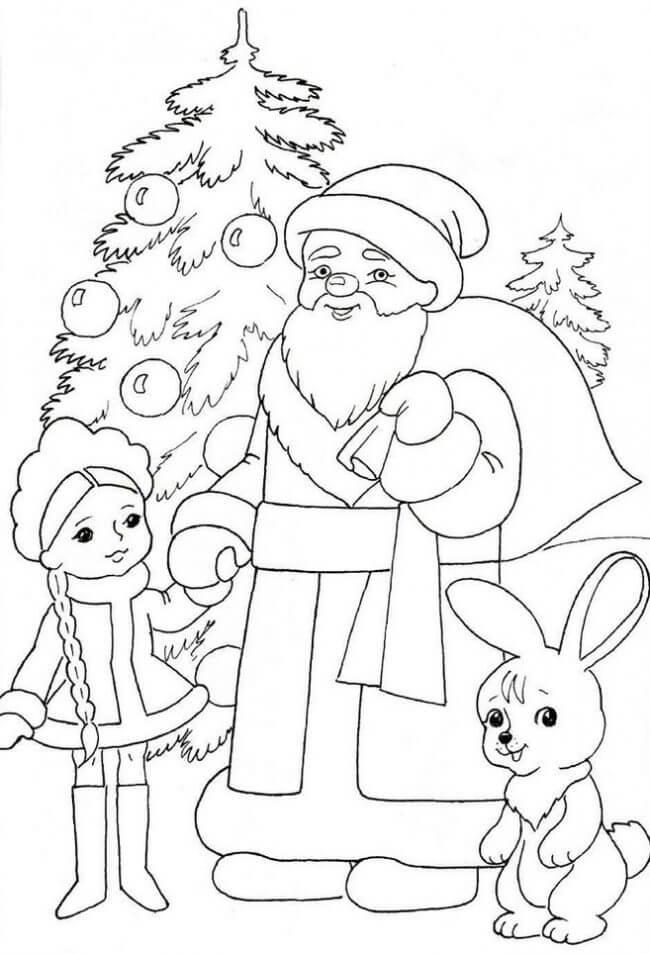 картинки нового года для срисовки
