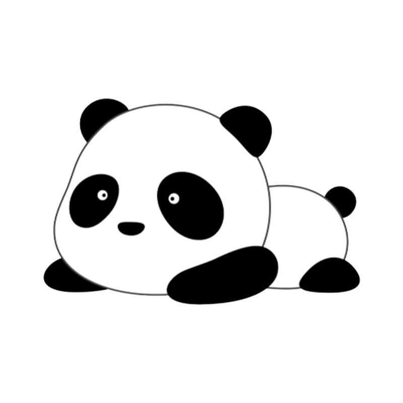 картинки для срисовки лёгкие панда