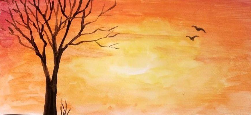 картинки пейзажи природы для срисовки